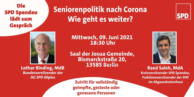 """""""Seniorenpolitik nach Corona - Wie geht es weiter?"""" 1"""